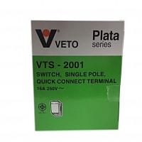 เต้ารับเดียวเสียบขากลมแบน VETO PLATA VTR-2007