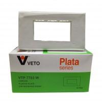 แผงหน้า 3 ช่อง VETO PLATA VTP-7703W