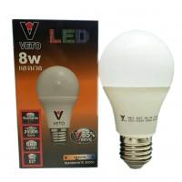 VETO หลอดประหยัดไฟ LED 8W E27 วอมไวท์